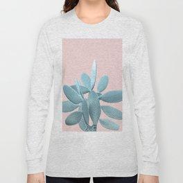 Blush Cactus #1 #plant #decor #art #society6 Long Sleeve T-shirt