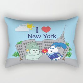 Ernest and Coraline | I love New York Rectangular Pillow