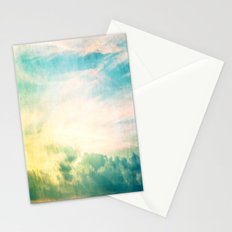 Pastel Abstract Sky  Stationery Cards