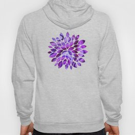 Violet wavy abstract Hoody