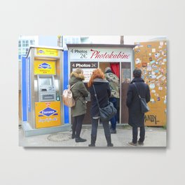 Old photo booth in Berlin (Photokabine) Metal Print