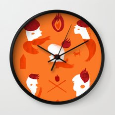 Firebirds Wall Clock