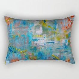 Modern Abstract Wall Art, A NEW Look, Blue vivid colors, living room wall art Rectangular Pillow