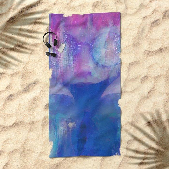 The girl next door Beach Towel