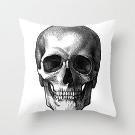 Head Skull Throw Pillow