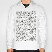 planes Hoodies featuring Paper planes by GrandeDuc