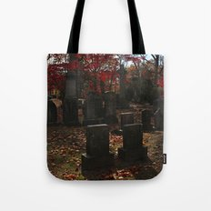 Cemetery Red Tote Bag