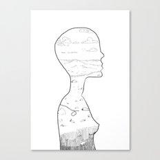 Silhouette Sketch Canvas Print