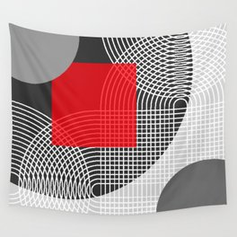 Red House Minimal Geometric Wall Tapestry