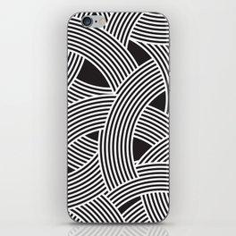 Modern Scandinavian B&W Black and White Curve Graphic Memphis Milan Inspired iPhone Skin
