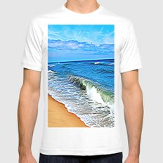 The Cape White SMALL Mens Fitted Tee