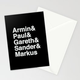 Trance Kings, Armin, Paul, Gareth, Sander and Markus  - Designed for Trance lovers Stationery Cards