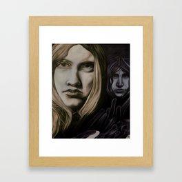 Lonliness creeps  Framed Art Print