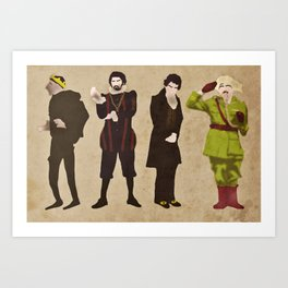Blackadder(s) Art Print