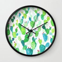 Watercolour Cacti Wall Clock