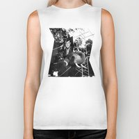 jfk Biker Tanks featuring A Photograph of JFK on an Elephant by J.G.