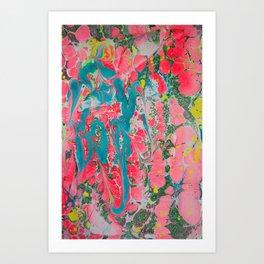 Fruit Cocktail Hand-Marbleized Art Print
