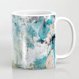 035.3: a vibrant abstract design in green black and blue by Alyssa Hamilton Art Coffee Mug