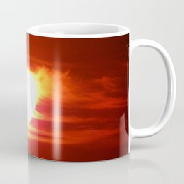 Flaming Skies Above the Mountain Range Coffee Mug