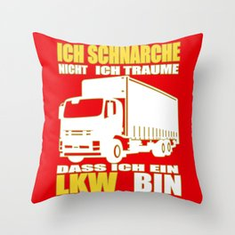 Truck Driver Snoring Snorer Trucker Throw Pillow