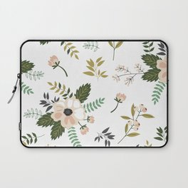 Winter floral - snowy blush petals Laptop Sleeve