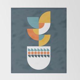 Geometric Plant 02 Throw Blanket