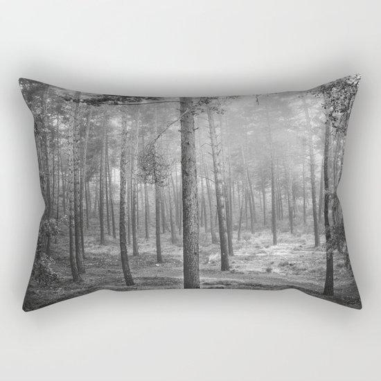 """""""Rectilineum"""". BW. Secret places. Foggy dreams. Rectangular Pillow"""