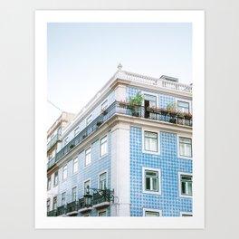 Pretty Lisboa | Fine art travel photography | Architecture of Lisbon Portugal Art Print