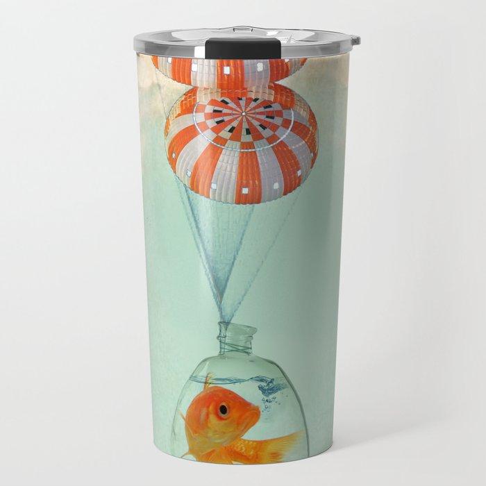 parachute goldfish Travel Mug