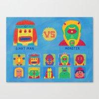 foo fighters Canvas Prints featuring Fantastic Fighters by murat kalkavan
