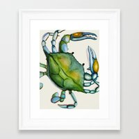 crab Framed Art Prints featuring Crab by Dylan Morang