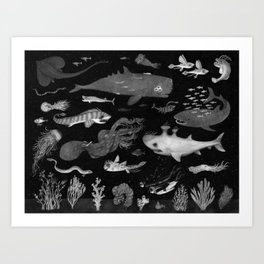Dangers of the Deep Unknown Art Print