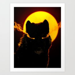 Malevolent Wolf Art Print