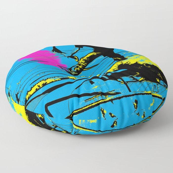 Tailgating - Stunt Scooter Tricks Floor Pillow