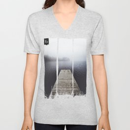 Fading into the mist Unisex V-Neck