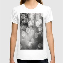 Bokeh Light In Black And White #decor #society6 T-shirt