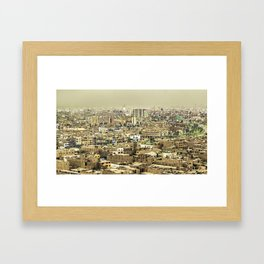 Aerial View of Lima Outskirt, Peru Framed Art Print