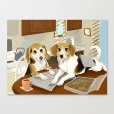 Beagle Breakfast  Canvas Print