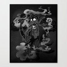 Deathly Bear Canvas Print