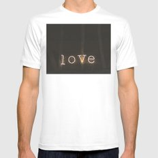 Love Mens Fitted Tee MEDIUM White