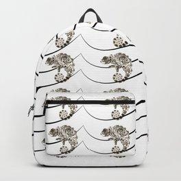 Color Deprived Cool Chameleon black and white Backpack
