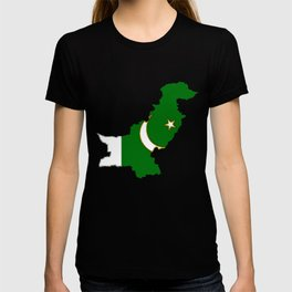 Pakistan Map with Pakistani Flag T-shirt