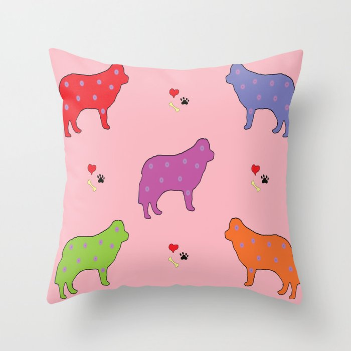 DOGS! DOGS! DOGS! Throw Pillow