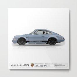 1967 Porsche 912R MEISSEN BLUE BLACK FUCHS Metal Print