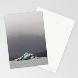 Iceberg on the glacial lagoon - landscape photography Stationery Cards
