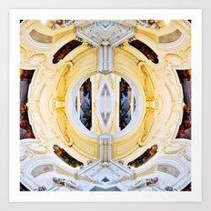 Plafond Kaléidoscope Art Print