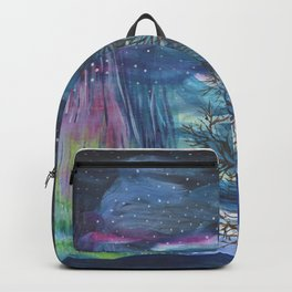 Starry Sky with Aurora Borealis Backpack