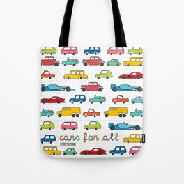 Cars for all Tote Bag