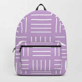Abstract geometric pattern - purple and white. Backpack
