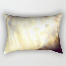 Christmas Lights and White Wine Rectangular Pillow